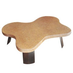 Paul Frankl Cork Top Coffee Table.