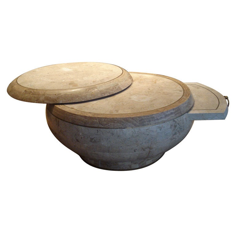 Whimsical Drum Coffee Table At 1stdibs