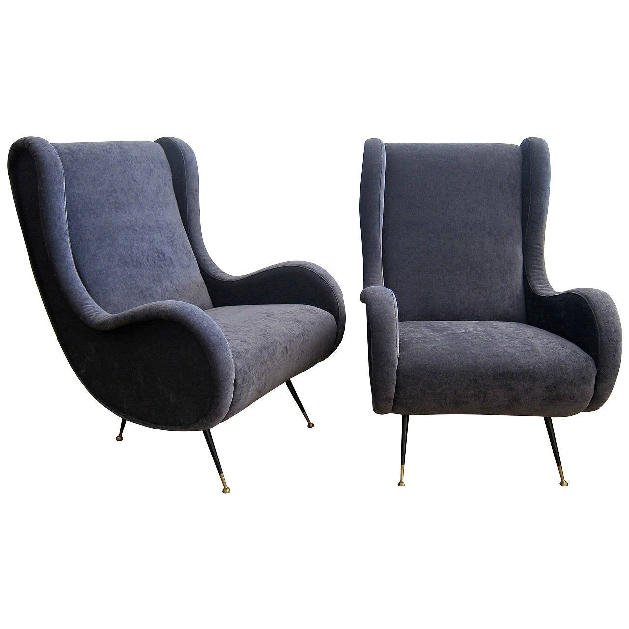 Marco zanuso style lounge chairs italy 1950s at 1stdibs for 1950s chair styles
