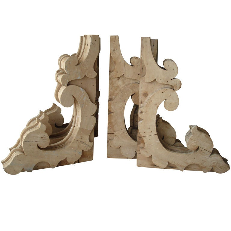 a set of six wooden architectural brackets corbels at 1stdibs