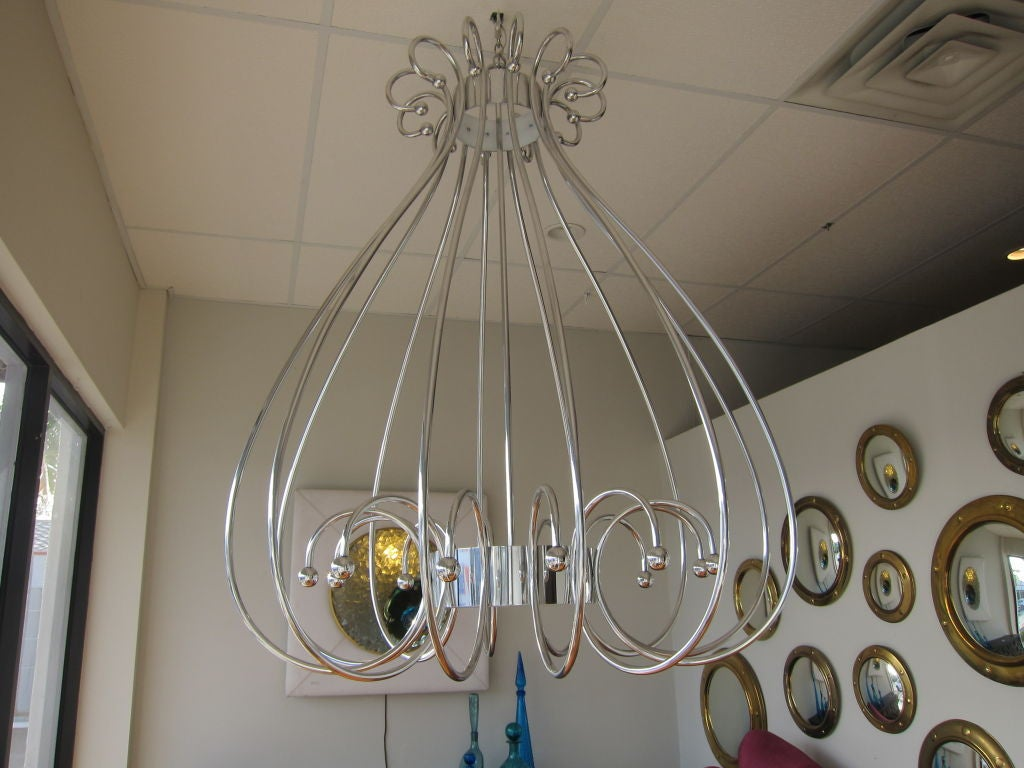 oversized birdcage chandelier at 1stdibs. Black Bedroom Furniture Sets. Home Design Ideas