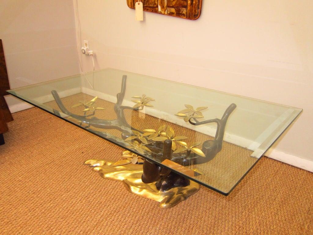 stunning bronze tree coffee table at 1stdibs
