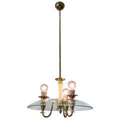 Dome Shaped 1950's Italian Chandelier