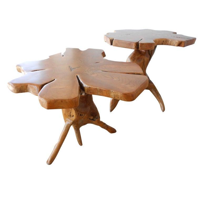 Sculptural wood root tables vintage usa at stdibs