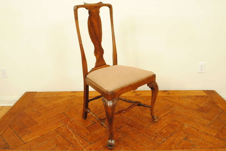 set of 6 spanish walnut queen anne style dining chairs at 1stdibs