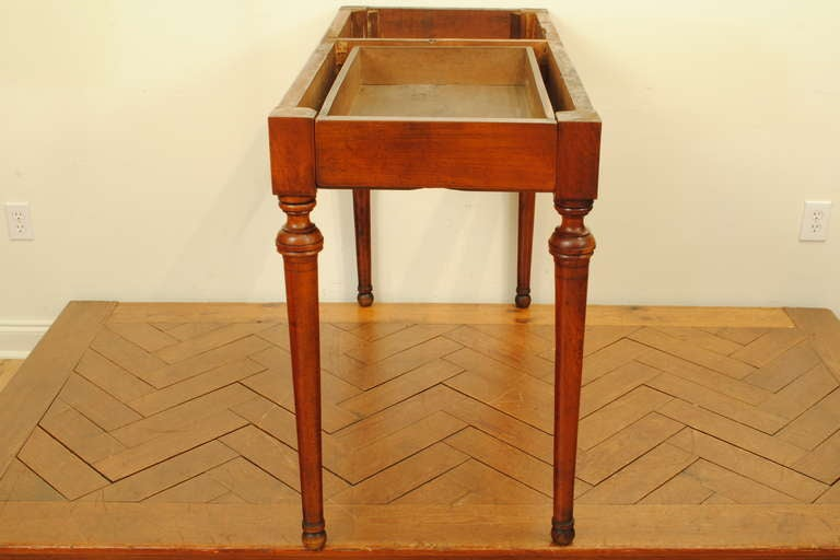 A French Late Neoclassical, 19th C. Cherrywood and Marble Console Table 5