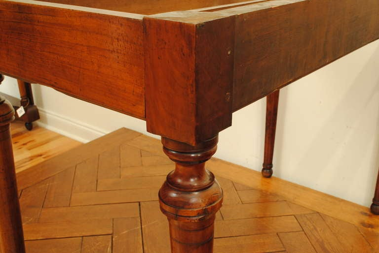A French Late Neoclassical, 19th C. Cherrywood and Marble Console Table 6