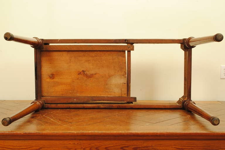 A French Late Neoclassical, 19th C. Cherrywood and Marble Console Table 8