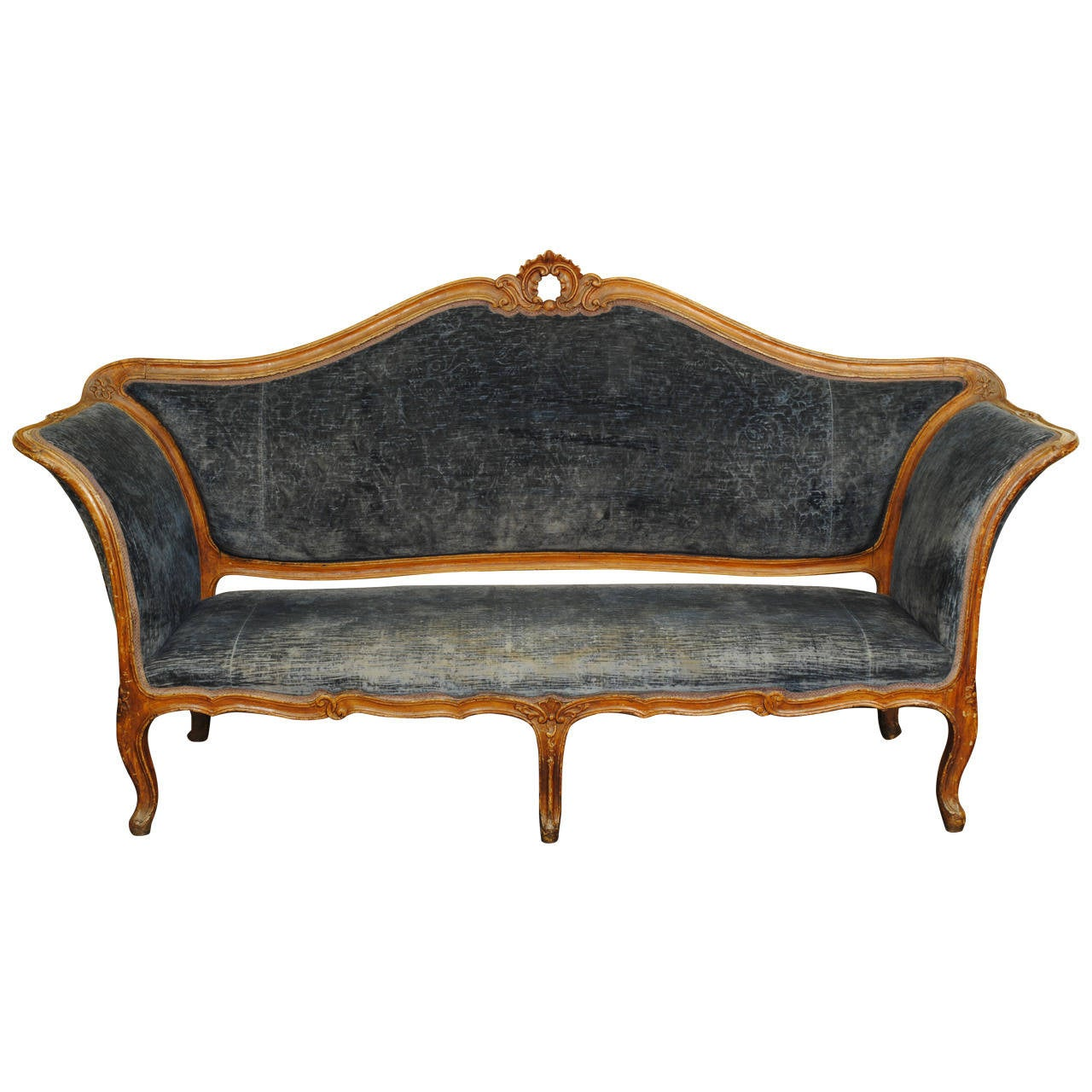 Italian Piemontese Mid 18th Century Carved And Painted Divano At 1stdibs