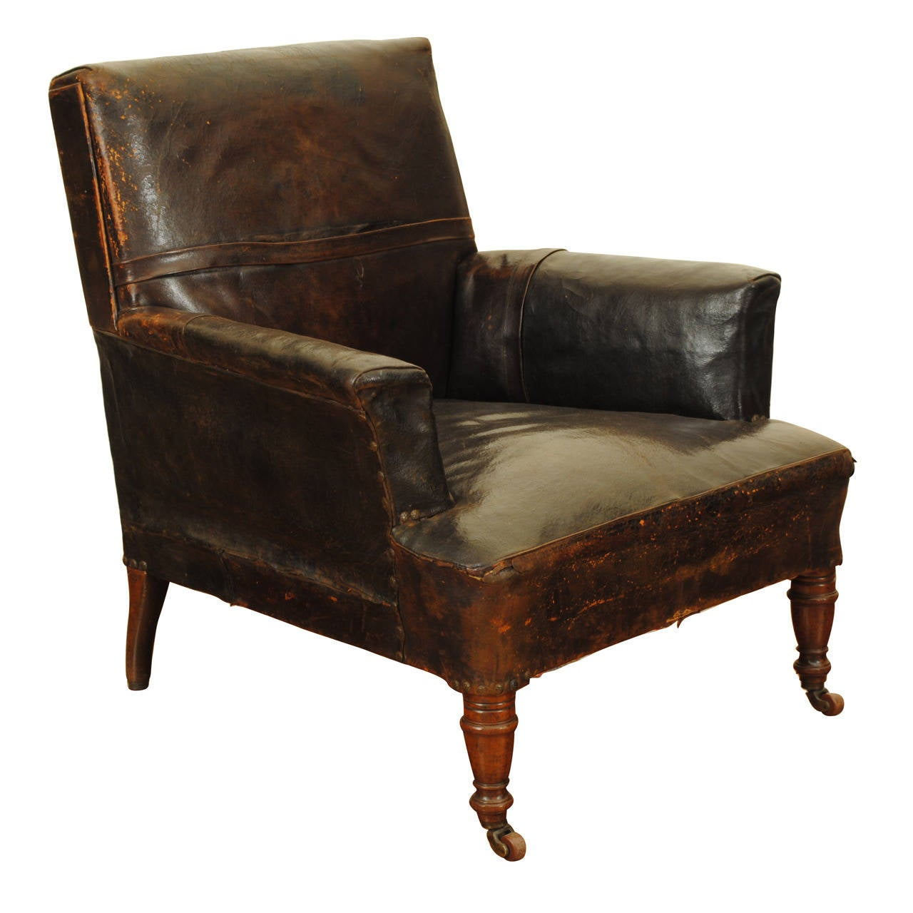 Luxury Leather Chairs english william iv walnut and leather upholstered club chair at