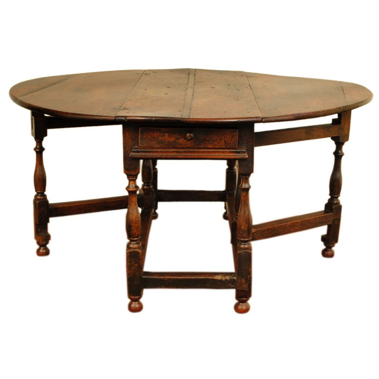 A large george ii period turned oak two drawer gateleg table at 1stdibs - Gateleg table with drawers ...