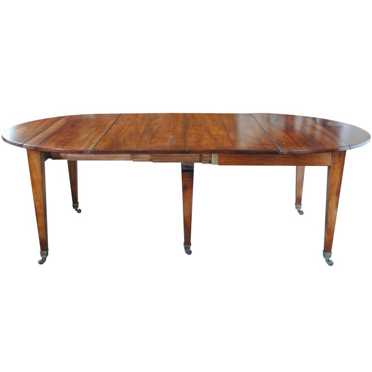 A 12 5 ft french early 19th century walnut extending for 5ft dining room table
