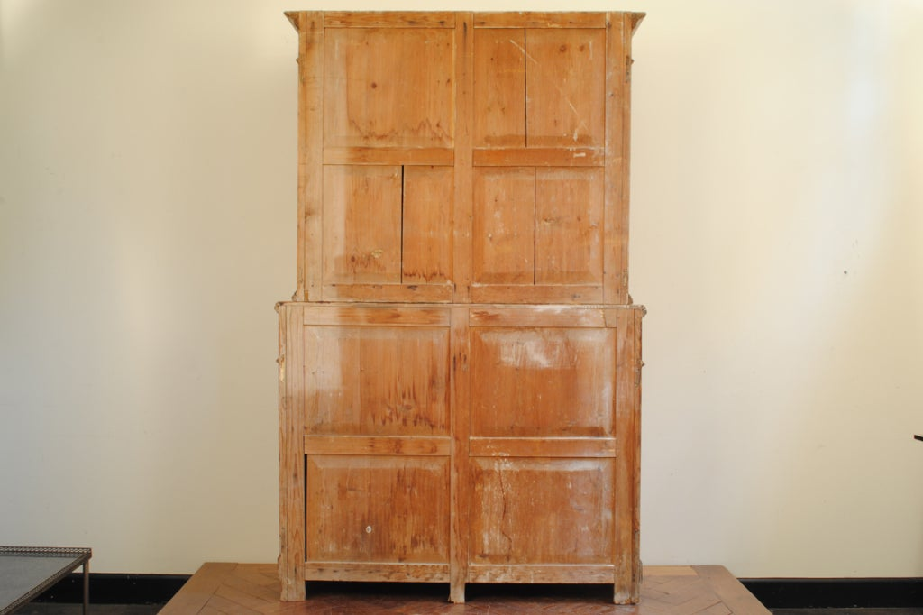 An italian veneto 19th century pinewood kitchen cabinet for 19th century kitchen cabinets