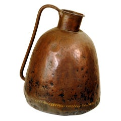 Copper and Gilt Decorated Water Vessel