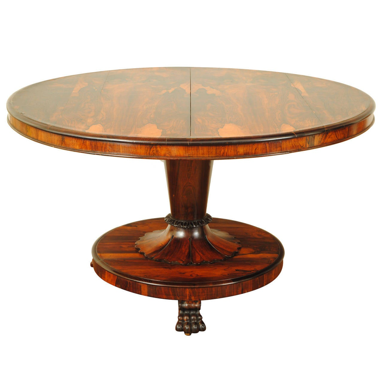 English william iv rosewood tilt top center table 19th for Table th center text