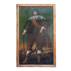A 17th Century Spanish Life-Size Oil on Canvas of a Nobleman