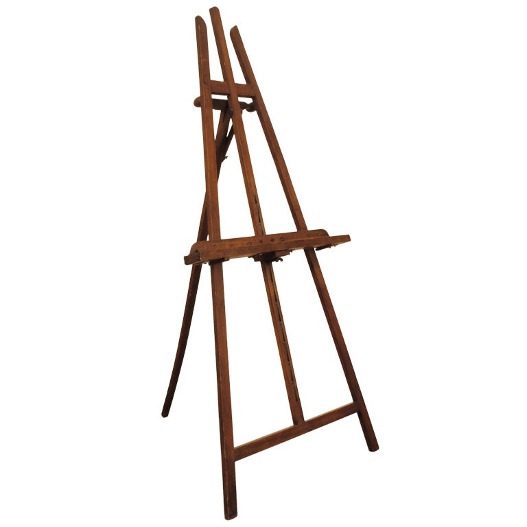 a continental walnut early 20th century adjustable display easel 1 - Display Easel