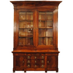 A French Louis Philippe Walnut and Bronze Mounted Bibliotheque