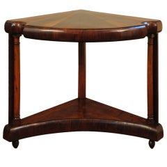 Early to Mid-19th Century Continental Mahogany and Fruitwood Corner Console