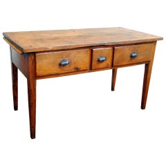 A French 19th Century Expandable Pinewood Kitchen Table