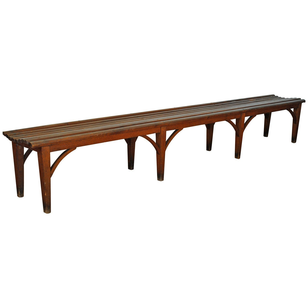 Long French Painted Wood Bench Mid To Late 19th Century At 1stdibs