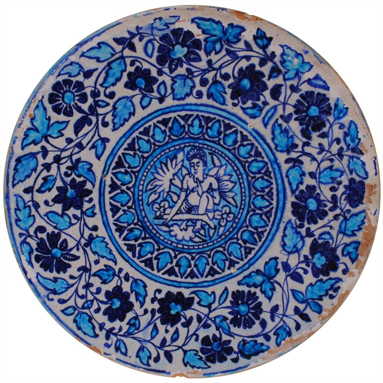 Moroccan ceramic charger, 19th century