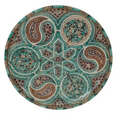 A 1st Half 19th Century Moroccan Glazed Ceramic Charger