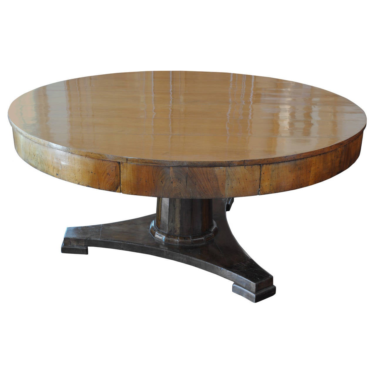 Massive Italian Veneto, Early 19th Century Walnut Center Table
