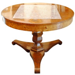 A Rare and Unique Italian Neoclassical Massive Elmwood and Marble Center Table
