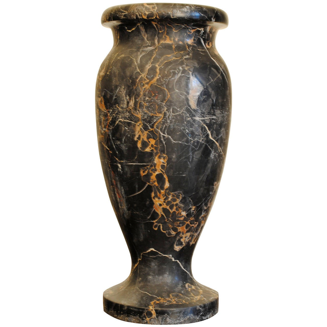 Home Design Quarter Contact Number Italian Art Deco Period Large Solid Portoro Marble Urn For