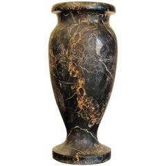 Italian Art Deco Period Large Solid Portoro Marble Urn