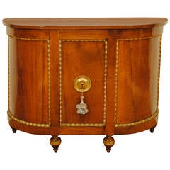 Tuscan Neoclassic Fruitwood and Giltwood One-Door Credenza, Early 19th Century