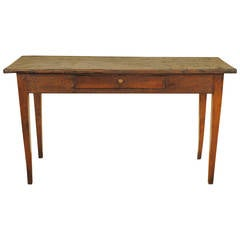 Italian Neoclassical Stained Ashwood and Pinewood Single-Drawer Console Table