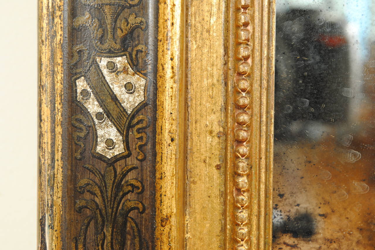 Italian Carved Giltwood And Stenciled Tabernacle Frame Or