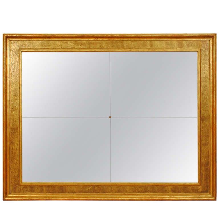 """Massive Sicilian Copper Gilt Frame, Later """"Antique"""" Mirrorplates, 18th cen."""