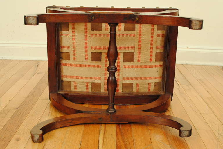 French Empire Footstool In Walnut 19th Century At 1stdibs