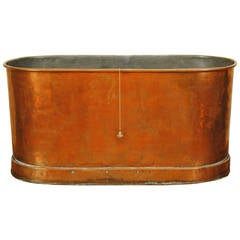 German Neoclassical Copper and Zinc Lined Bathtub