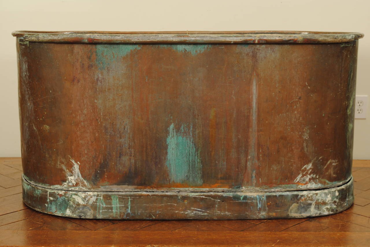German Neoclassical Copper And Zinc Lined Bathtub At 1stdibs