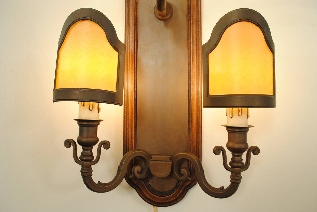 Italian Style Wall Sconces : Set of Five Italian Baroque Style Three-Light Wall Sconces in Patinated Brass at 1stdibs