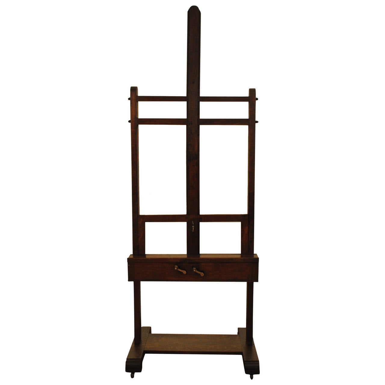 French Adjustable Oak Artist S Easel Turn Of The 20th
