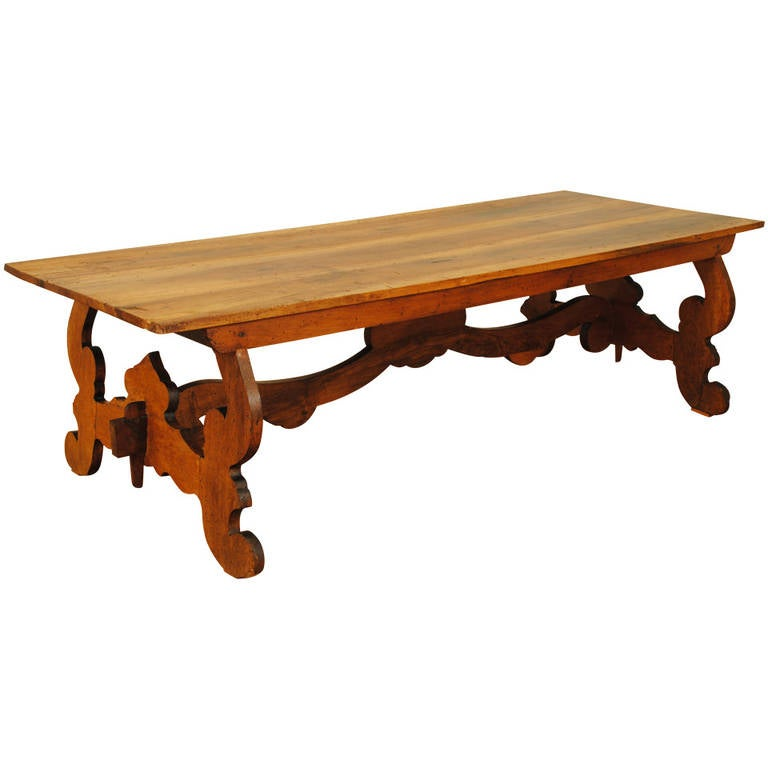 Italian walnut mid 19th century baroque style coffee table at 1stdibs Tuscan style coffee table