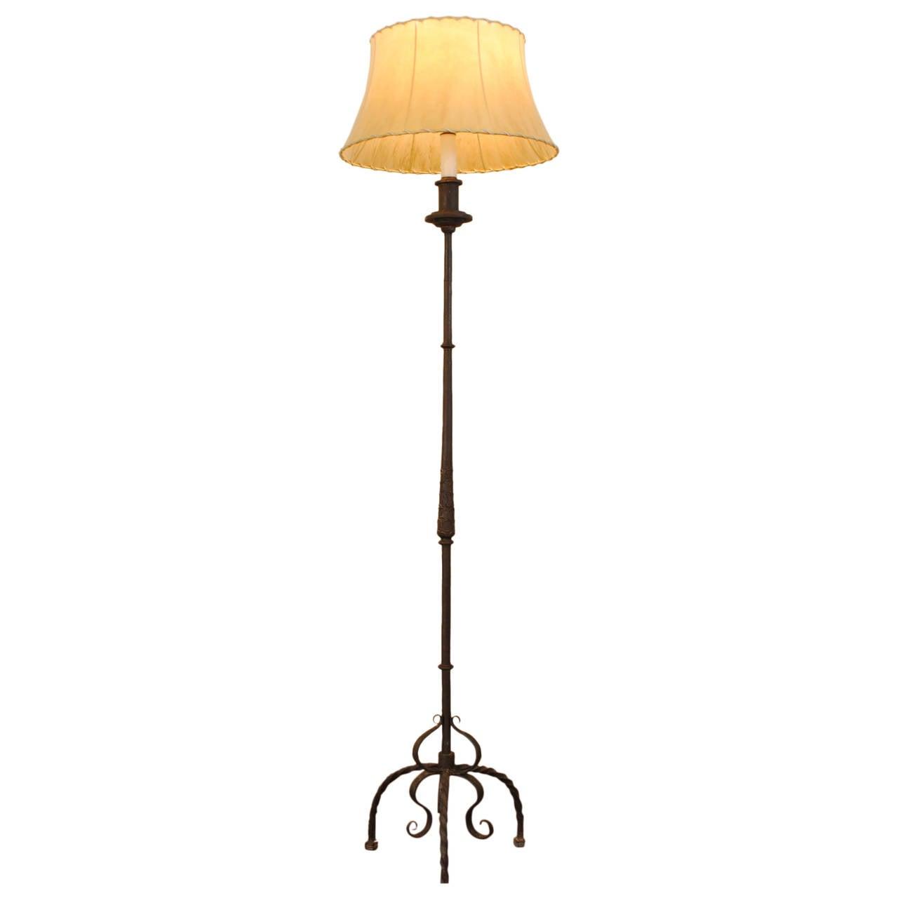 italian wrought iron floor lamp turn of the 20th century. Black Bedroom Furniture Sets. Home Design Ideas