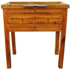 A Portuguese Early 19th Century Pinewood Goldsmith's Work Table