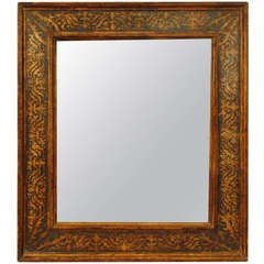 An Italian Late Renaissance Period Painted and Parcel-Gilt Frame/Mirror