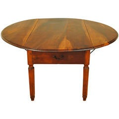 Large Italian Neoclassic Provincial Pine and Walnut Kitchen Table