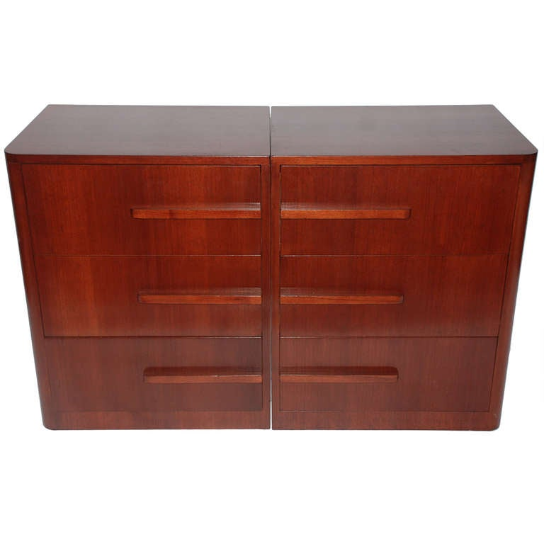 Art Deco Bookend Chests of Drawers by Modernage at 1stdibs