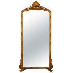 Italian Early Neoclassic Carved Giltwood Mirror, Late 18th Century
