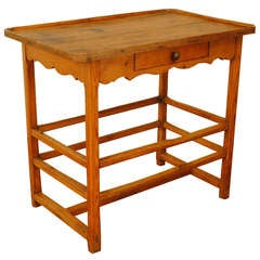 A French Mid 19th Century Pinewood Work Table