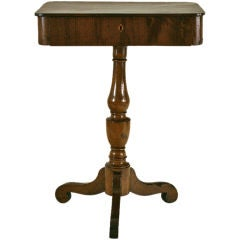 A Tuscan Late Neoclassical Walnut One Drawer Work Table