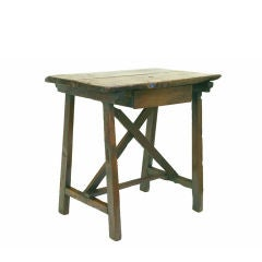 A Late Italian Baroque Walnut and Pine 1-Drawer Work Table